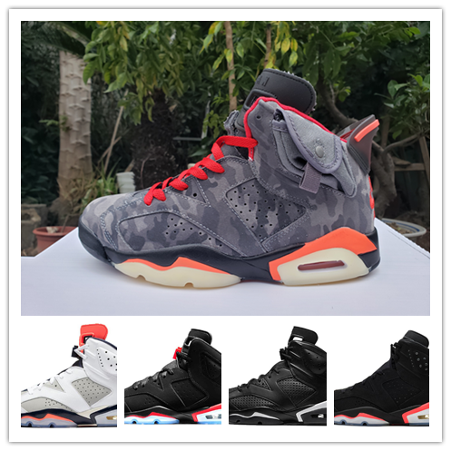 High Quality Travis Scotts X 6 Retro Medium Olive Men Basketball Shoes Denim Tinker Cactus Oregon Mens Sports Sneaker 7-12