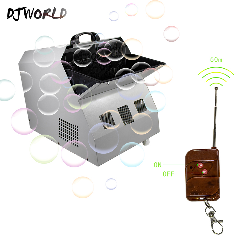 DJworld Wireless Remote Control 500W2.5L Double Drive Bubbles Machine DJ Equipment Party Stage Automatic Portable  Party Wedding|Stage Lighting Effect| |  - title=