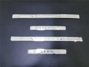 Image 4 - Dla Chevrolet Silverado 2016 2017 2018 2021 nakładka na próg wykończenia próg pedał straż naklejki akcesoria samochodowe do stylizacji 4X