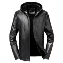 Mens Leather Jacket Men's Winter