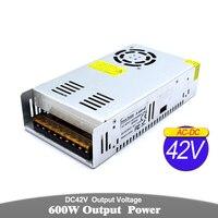 Switch Power Supply DC 42V 14.3A 600W Driver Transformer 110V 220V AC to DC42V SMPS For CNC Router Machine CCTV Stepper Motor