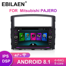 EBILAEN  Car DVD Radio player For Mitsubishi PAJERO 4  Multimedia 2din Android 8.1 Radio GPS Navigation V90 V97 Rear Camera