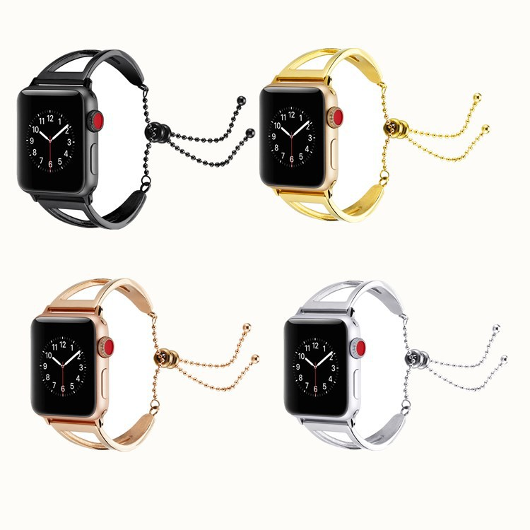 Suitable For AppleWatch Four Generations Universal Bracelet Chain Hollow Out Metal Watch Strap 40/44/38/42