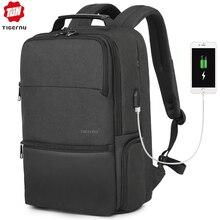 Tigernu New Man Backpack Waterproof Anti Theif Bagpack USB Recharging Multi-layer Space Male Bag RFID Lining Travel Backpack рюкзак tigernu t b3237 black