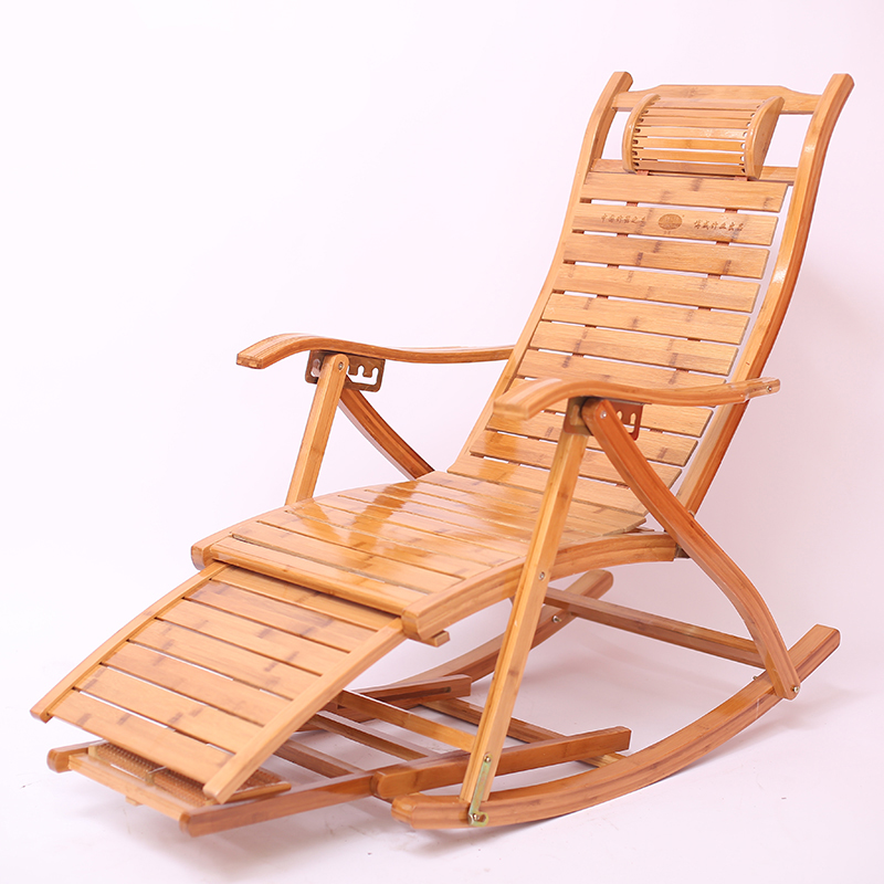 Bamboo Recliner Folding Chair Adult Lunch Break Couch Old Man Free Chair Home Balcony Lazy Person Lean Chair Summer Cool Chai
