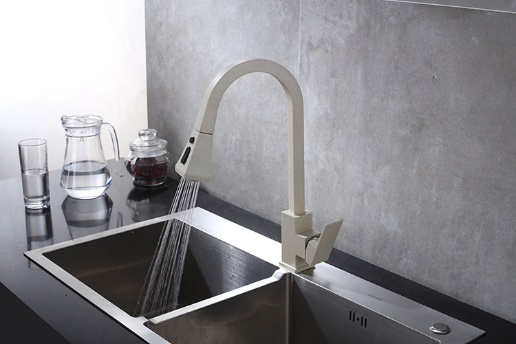 Ha4a6284a35484a5b81e8ee2b4dfc4629k Black Kitchen Faucet Pull Out Kitchen Tap Single Hole Handle Swivel 360 Degree Hot Cold Water Mixer Tap Kitchen Water Tap Faucet