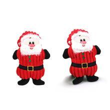 Nuevo juguete de perro mascota de Navidad Santa Claus juguete para mascotas masticar juguetes de peluche para perros lindos populares juguetes de sonido de cuerda