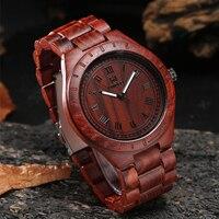 남자를위한 uwood 나무로되는 시계 호화스러운 우연한 석영 시계 eco-friendly 자연적인 남자 나무로되는 시계