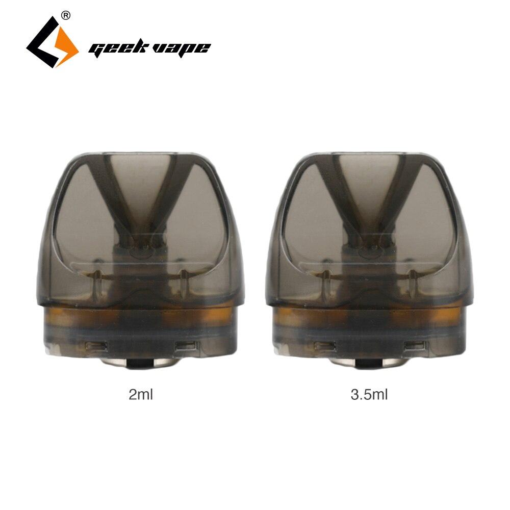 Original 2pcs/pack Geekvape Bident Pod Cartridge 2ml/3.5ml Capacity With 0.8ohm/1.2ohm Coil Head Pod System For Bident Pod Kit