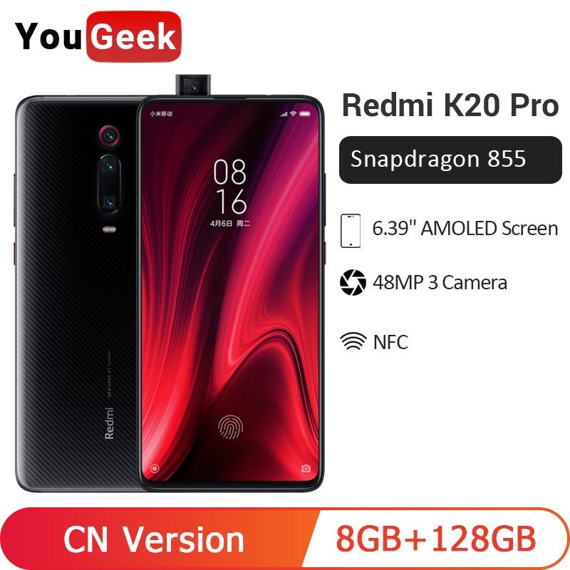 ROM globale Xiaomi Redmi K20 Pro 8 go 128 go Smartphone Snapdragon 855 Octa Core 48MP caméra arrière 4000mAh NFC en reconnaissance d'écran