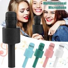 Bezprzewodowy mikrofon ręczny do Karaoke głośnik KTV odtwarzacz Mic Party 5W akustyczna pogłos USB połączenie kablowe