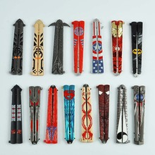 Butterfly Knife Folding Knife Weapon Training Tool Toy Alloy Weapon Model Unedged Metal Crafts Collectibles Send Friends Gifts cheap 21cm Diecast 8 years old Unisex Sword Weapon Category be careful