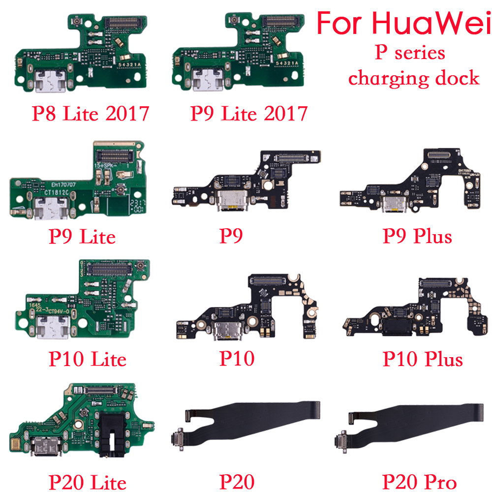 For Huawei P8 P9 P10 P 20 Lite Plus P8 Lite 2017 Charger Charging Port Dock USB Connector Data Flex Cable WIth Headphone Jack