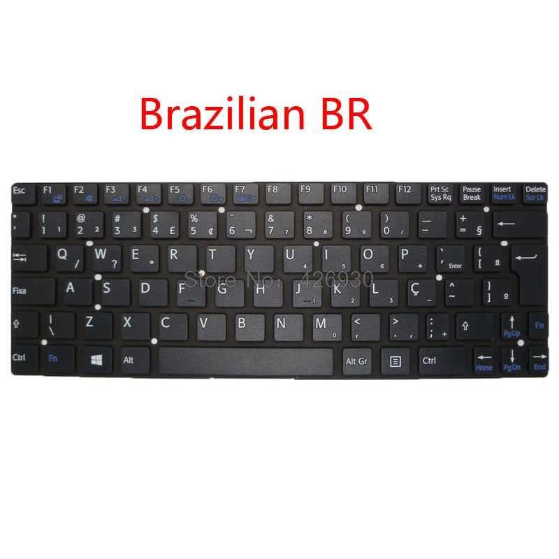 Computador portátil us gr br sp it fr teclado para sony para vaio svt11 svt111 inglês alemanha brasileira espanhol itália francês novo original