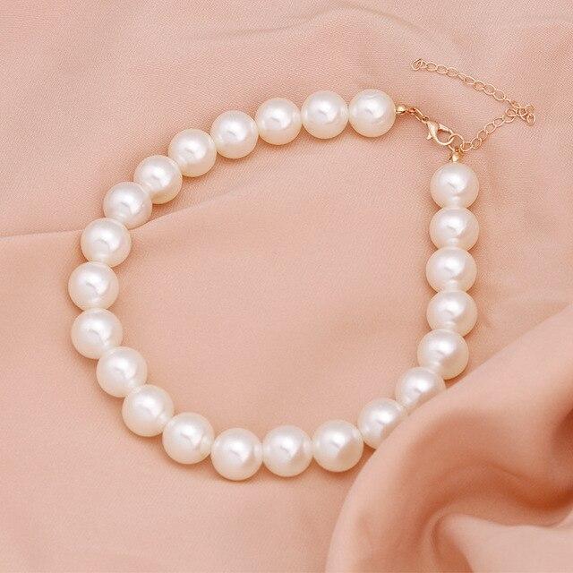 elegant pearl charm necklace 4