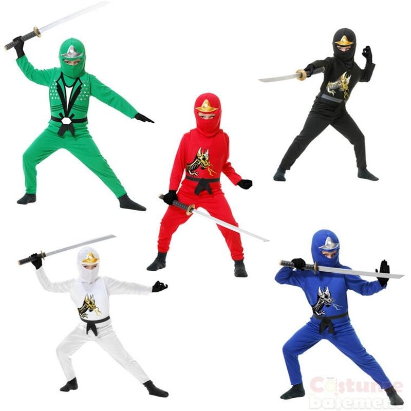 Ninja macacão traje fantasia festa fantasiar-se ninjago super-herói purim traje kai smith ninja equipe adequado 3-9 anos