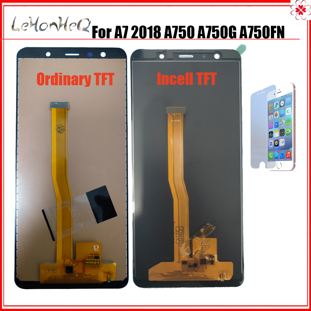 For <font><b>Samsung</b></font> Galaxy A7 2018 <font><b>A750</b></font> <font><b>LCD</b></font> SM-A750F A750F Display Touch Screen Assembly Replacement For <font><b>samsung</b></font> <font><b>A750</b></font> <font><b>LCD</b></font> screen image