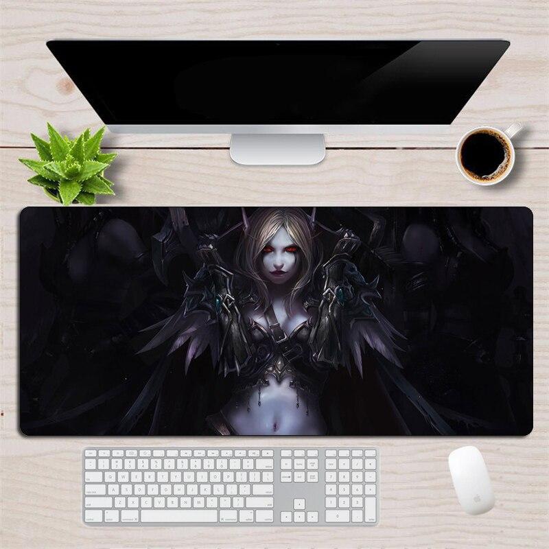 Large 90x40cm World Of Warcraft Gaming Mousepad Non-Skid Rubber Locking Edge XL Otaku Mouse Pad Gamer Horde Alliance Desk Mat