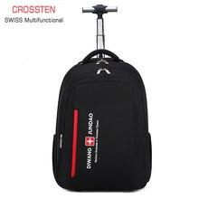 Trolley Backpack Suitcase Laptop Business-Trip-Bag Swiss Multifunctional Waterproof Boarding-Case