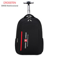 2 in 1 Trolley Backpack Business trip Bag Large Capacity Waterproof Suitcase Laptop Backpack Swiss Multifunctional boarding case(China)