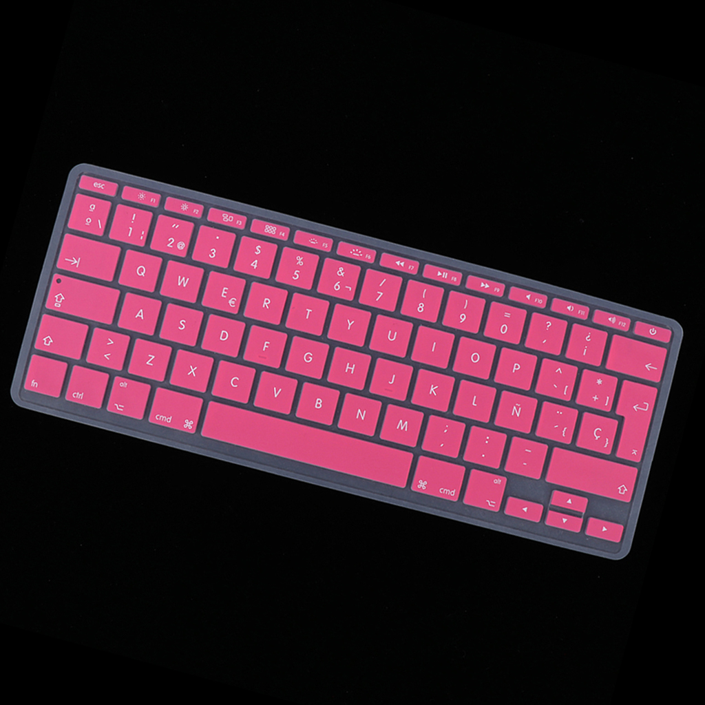Silicone Keyboard Protector Spanish Phonetic Keyboard Film for Macbook 11inch Laptop Protective Film Cover Soft-Touch Waterproof