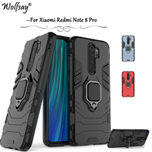 For Xiaomi Redmi Note 8 Pro Case Armor Finger Ring Holder Phone Cover