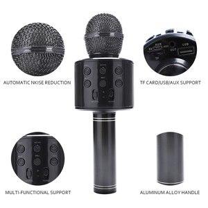 Image 2 - Tout nouveau haut parleur de Microphone sans fil Bluetooth professionnel Microphone à main karaoké micro KTV lecteur de musique enregistreur de chant