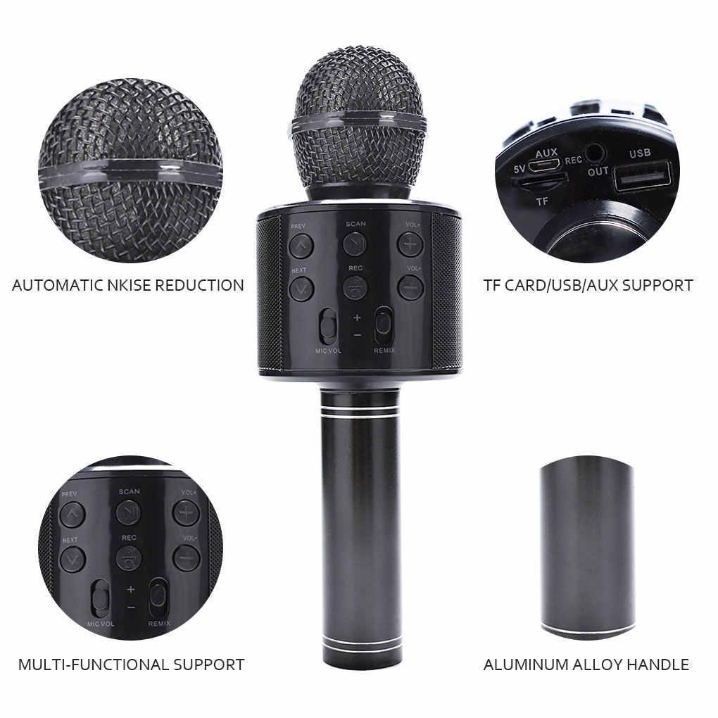 WS858 Altavoz Bluetooth inalámbrico profesional micrófono de mano micrófono Karaoke KTV reproductor de música grabador para cantar