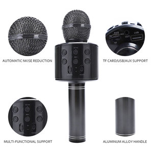 Image 5 - WS858 Portable Bluetooth Karaoke Microphone Wireless Professional Speaker Home KTV Handheld Microphone