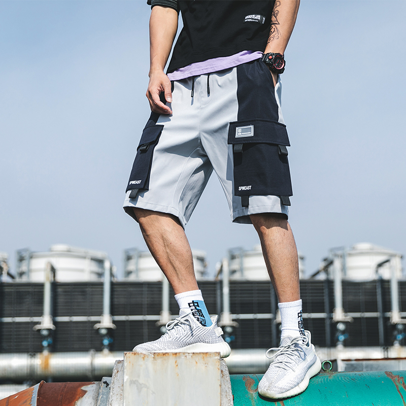 Streetwear Summer Men's Shorts Casual Side-pocket Cargo Shorts Men 2020 New Bermuda Knee Length Men Short Pants