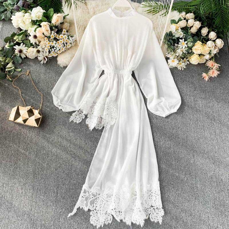 NiceMix 2019 новая шифоновая рубашка с длинным рукавом и стоячим воротником, Женская однотонная корейская модная одежда, Изысканная блузка