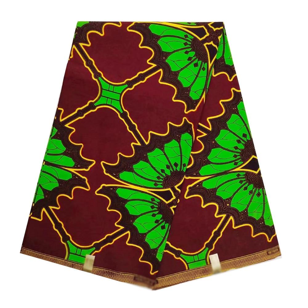 2019 Ghanaian Wax Fabric Guaranteed Veritable Dutch Real Wax Design Fabric For Dress Ankara Nigerian Ghana African Wax Fabrics
