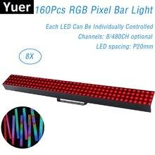 160Pcs RGB Wall Washer LED Pixel tube DMX Bar Light Individual Control Pixel Stage Light Dj Bar Light Music Disco Ball Lamp Club майка print bar pixel color