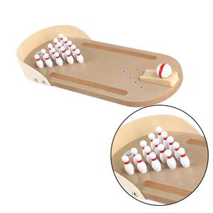 Wooden Mini Desktop Bowling Game Toy Set Tabletop Bowling Toy Classic Desk Ball Kit Finger Hand Happy Party Toy For Kids Adults(China)
