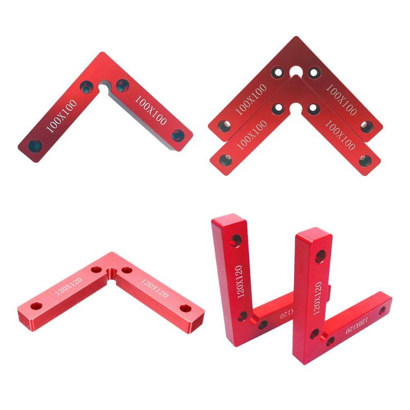 90 Degree Right Angle Square Woodworking Fixture Corner Clamp Calibration Accuracy Ruler Wood Metal Welding Fixing Tool