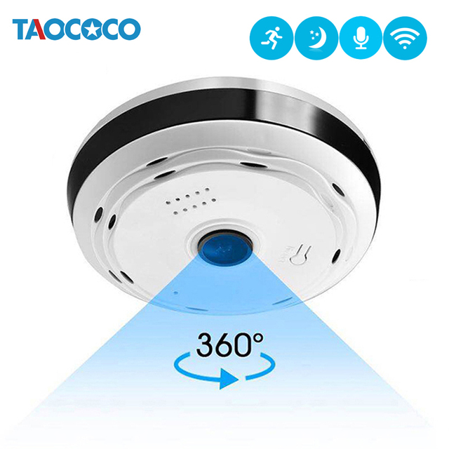 960P HD 360 كاميرا فيش بانورامية IP كاميرا كاميرا سي سي تي في بدون سلك 1.3MP مراقبة للرؤية الليلية أمن الوطن واي فاي كاميرا