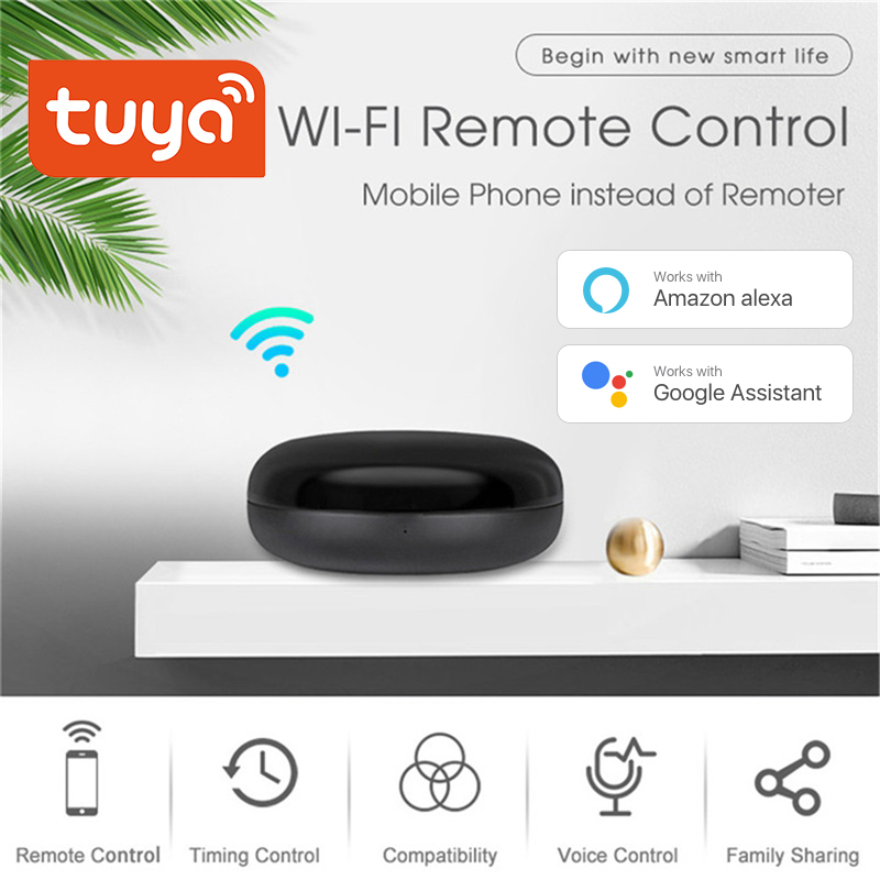 Tuya Mini WiFi Smart IR Remote 10m Controller with Alexa Google Assistant, For TV Air Conditioning Appliances Voice Control tuya 2