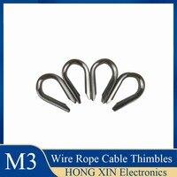 M3 Draht Seil Kabel Fingerhüte 304 Edelstahl Nicht rosten und anti korrosion Draht seil ring-in Hebewerkzeuge & Zubehör aus Werkzeug bei