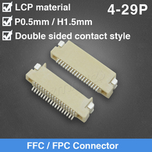 цена на FFC FPC Flat Cable Connector 0.5mm Pitch 1.5mm Double Side Type Connector 4P 6P 8P 10P 12P 15P 18P 20P 22P 25P FPC Connector