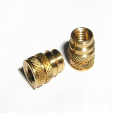 3000pcs IUB-M6-1/IUB-M6-2 Tapered Thru Threaded Inserts-Types IUA IUB IUC-Metric Brass Nature PEM Std Knurled Nut