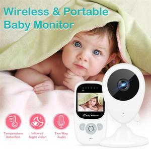 Image 4 - 2.5 인치 무선 베이비 모니터 비디오 컬러 베이비 보모 보안 카메라 나이트 비전 온도 음악 LCD 모니터 베이비 카메라