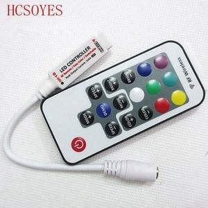 Image 5 - RGB LED strip mini controller dimmer IR Infrared RF Wireless Remote 44 24 17 rgb key