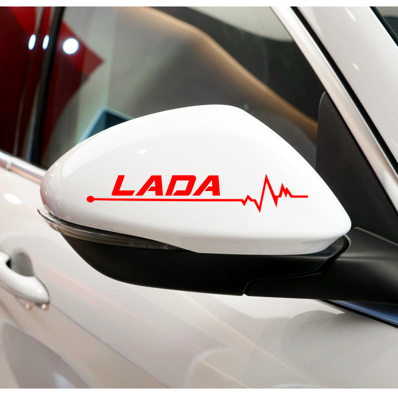 Image 5 - 2PCS Reflective Car Styling Side Rear View Mirror Sticker For lada VESTA niva kalina priora granta largus vaz samara Accessories-in Car Stickers from Automobiles & Motorcycles