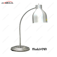 DW1/DW2 electric stainless steel food warmer lamp commercial food heating warming lamp for hotel/restaurant buffet equipment dz 2 warming lamp 2 head lamp hotel buffet professional heating machine