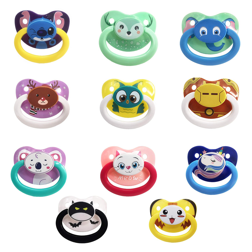 White TEN@NIGHT Adult Pacifier Size Dummy ABDL Silicone Pacifier Adult Nipple