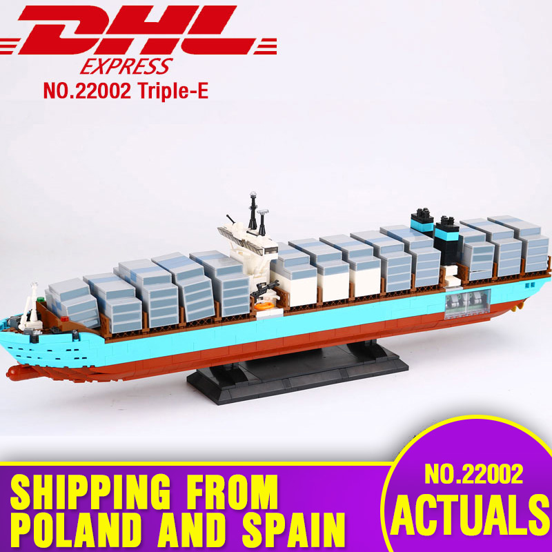 Oyuncaklar ve Hobi Ürünleri'ten Bloklar'de DHL 22002 Teknİk Serisi 10241 Kargo Konteyner Gemisi Set Eğitim Yapı Taşları Tuğla Montaj Modeli Çocuk Oyuncakları Hediyeler'da  Grup 1