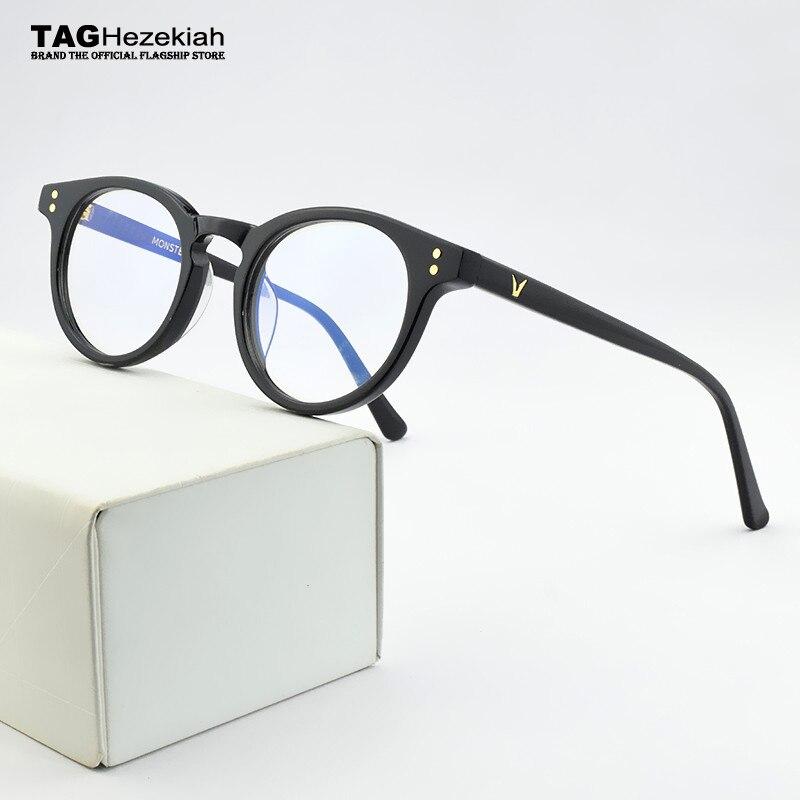 2020 V Brand Round Glasses Frame Women Eyeglasses Men Spectacle Frames Korea Eye Glasses Frames For Women Optical Glasses Frame