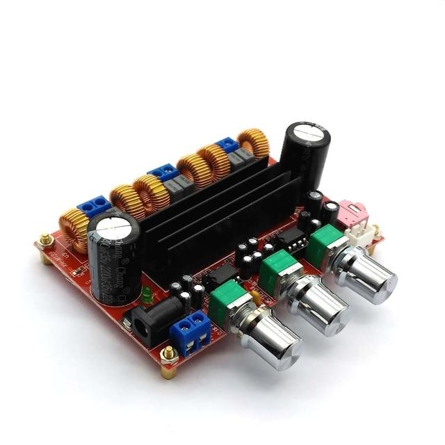 Placa amplificadora Digital para Subwoofer, TPA3116D2 50Wx2 + 100W, 2,1 canales, 12V 24V, Powe