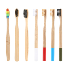 NEW Natural Bamboo Toothbrush Bamboo Charcoal Toothbrush Low Carbon Bamboo Nylon Wood Handle Toothbrush Protable Brush зубная щётка запорожец bamboo toothbrush узор