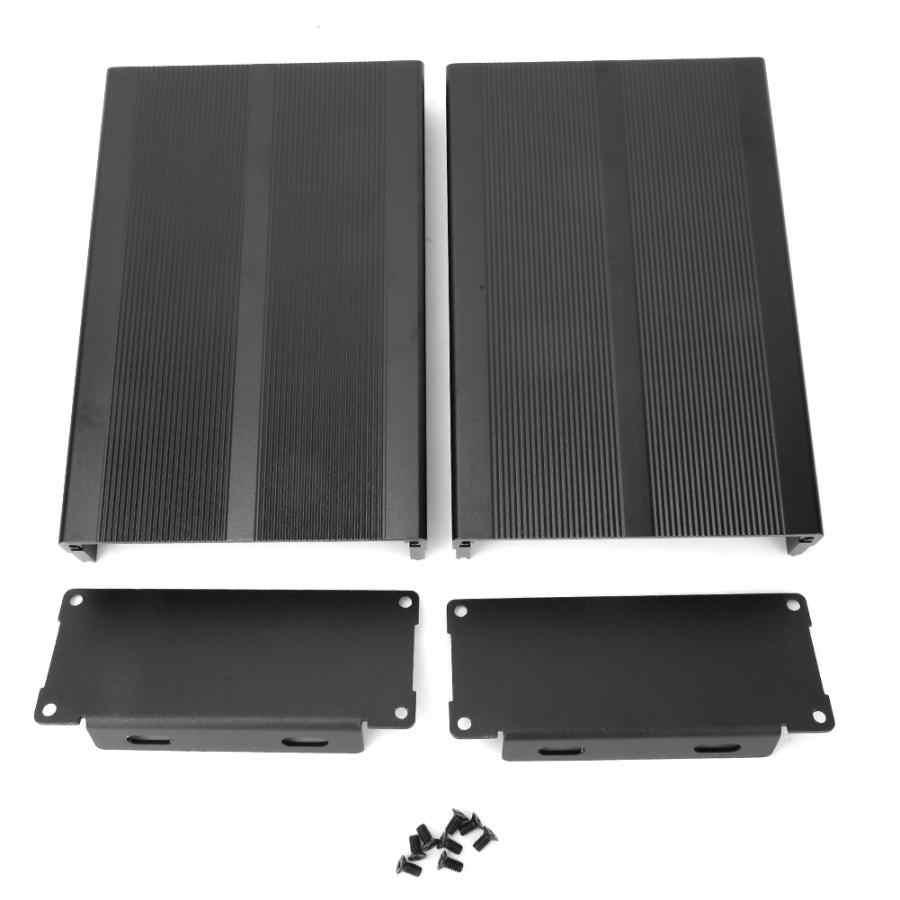 Песочный черный прессованный алюминиевый корпус водонепроницаемый PCB инструмент электронный проект коробка чехол DIY Распределительная коробка 40x97x150 мм